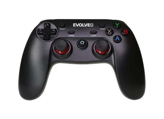 EVOLVEO Fighter F1, bezdrátový gamepad pro PC, PlayStation 3, Android box/smartphone; GFR-F1