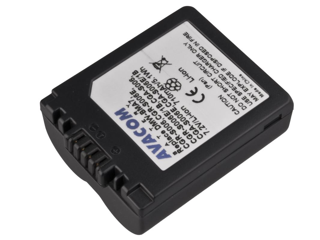 Baterie AVACOM Panasonic CGA-S006 Li-ion 7.2V; DIPA-S006-174