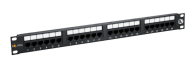"19"" Patch panel Solarix 24xRJ45 CAT5E UTP černý 150MHz"