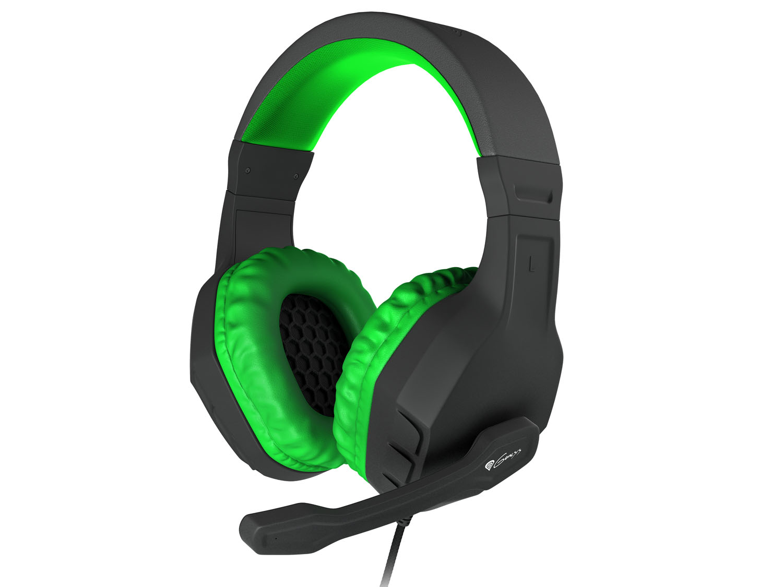 Herní stereo sluchátka Genesis Argon 200,černo-zelené; NSG-0903