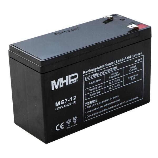 Pb akumulátor MHPower VRLA AGM 12V/7Ah (MS7-12); MS7-12