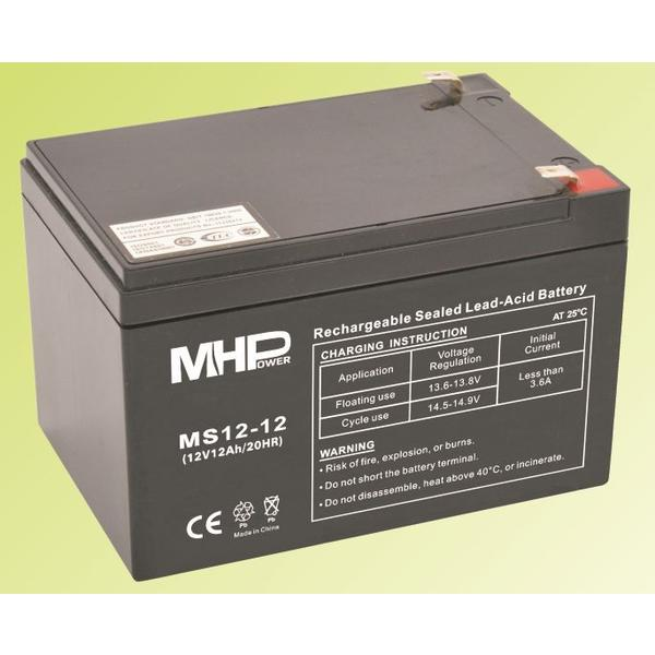 Pb akumulátor MHPower VRLA AGM 12V/12Ah (MS12-12); MS12-12