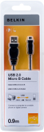BELKIN USB 2.0 A - Micro B Cable 0.9m