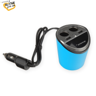 WE auto adaptér CUP 2x USB, 2x CS 5V 9.6A