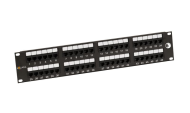 "19"" Patch panel Solarix 48 x RJ45 CAT6 UTP černý"