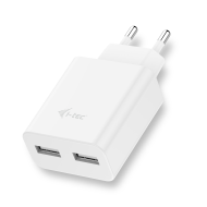 i-tec USB Power Charger 2 Port 2.4A White