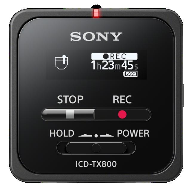 Sony dig. diktafon ICD-TX800,černý,16GB,USB; ICDTX800B.CE7