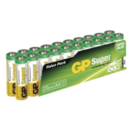 GP SUPER ALKALINE BATTERY AA (LR6) - 20KS