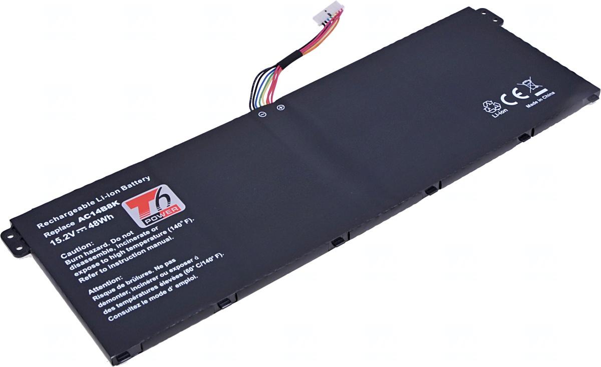 Baterie T6 power Acer Aspire ES1-311, ES1-511, E5-571, E5-731, E5-771, 3150mAh, 48Wh, 4cell, Li-ion;
