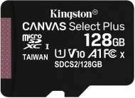 128GB microSDXC Kingston Canvas Select Plus  A1 CL10 100MB/s bez adapteru