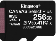 256GB microSDXC Kingston Canvas Select Plus  A1 CL10 100MB/s bez adapteru