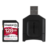 128GB SDHC Kingston Canvas React Plus  UHS-II V90 + čtečka
