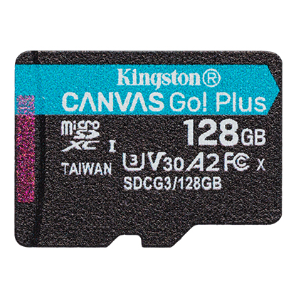 128GB microSDXC Kingston Canvas Go! Plus A2 U3 V30 170MB/s bez adapteru