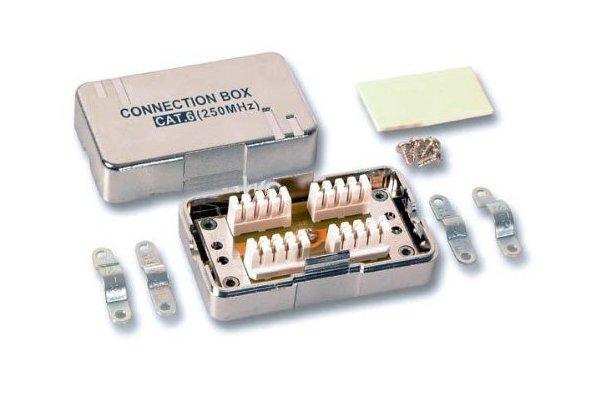 PremiumCord Propojovací box pro kabely Cat.6, narážecí, stíněný; srjbox-02
