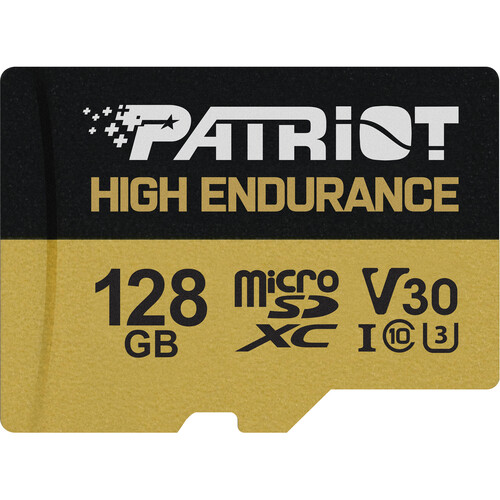 128GB microSDXC Patriot Hight Endurance V30 U3 až 95MB/s
