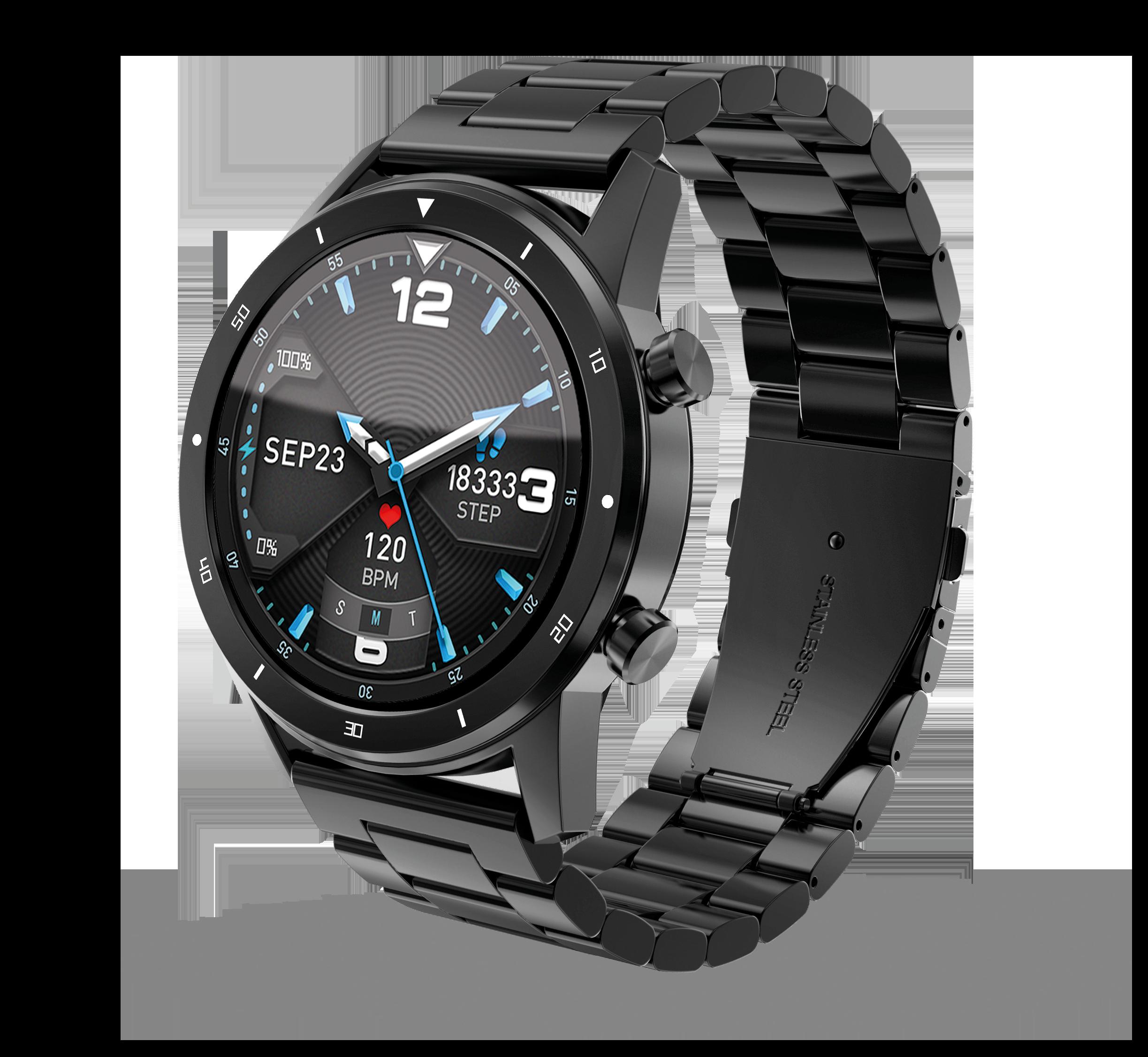 Chytré hodinky Aligator Watch PRO (Y80), černé; AW01BK