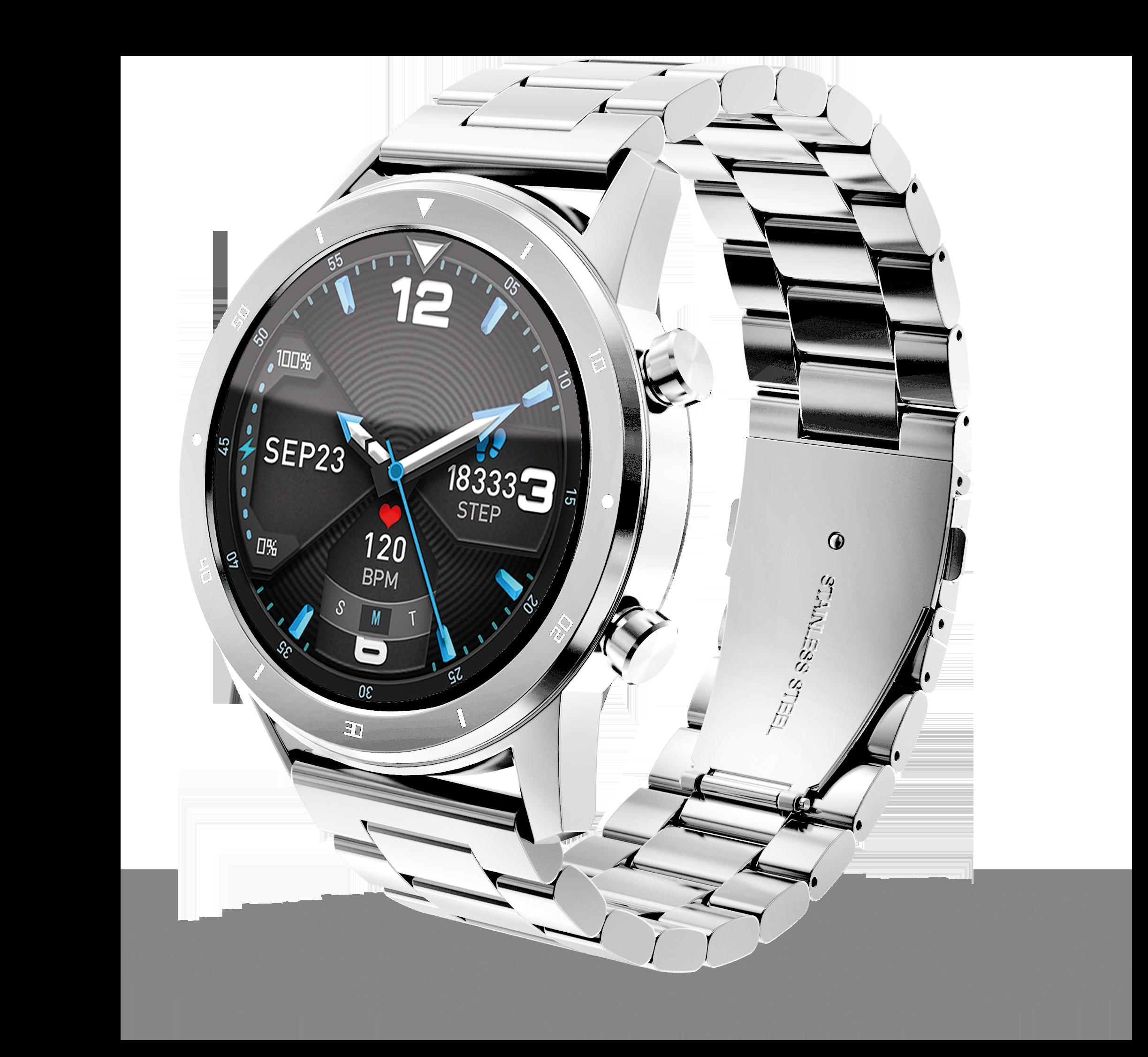 Chytré hodinky Aligator Watch PRO (Y80), stříbrné; AW01SR