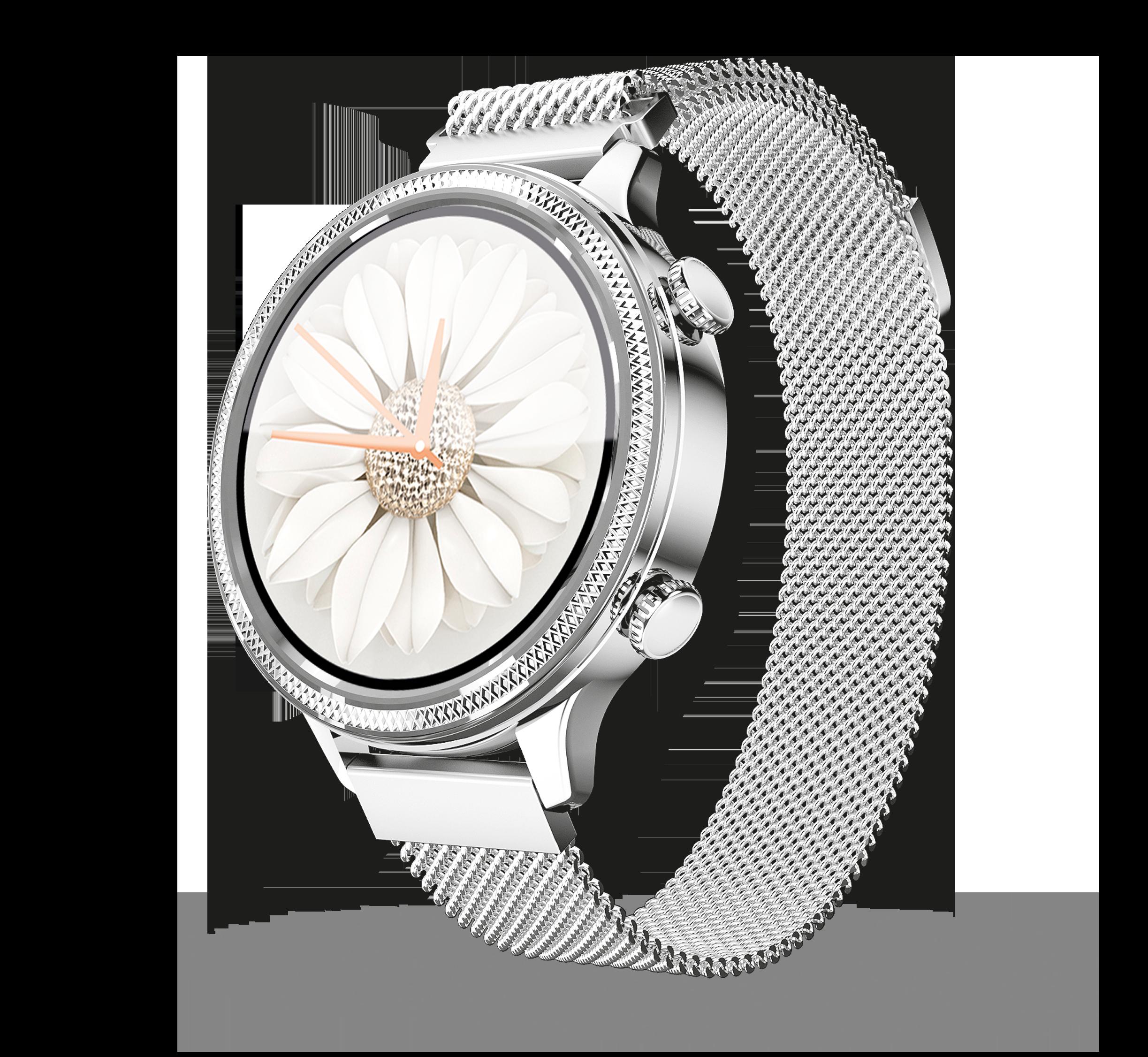 Chytré hodinky Aligator Watch Lady (M3), stříbrné; AW02SR