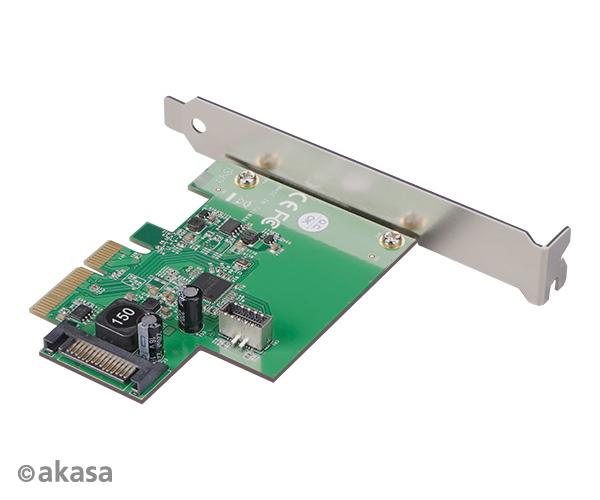 AKASA PCIe karta USB 3.2 Gen 2 interní konektor; AK-PCCU3-06