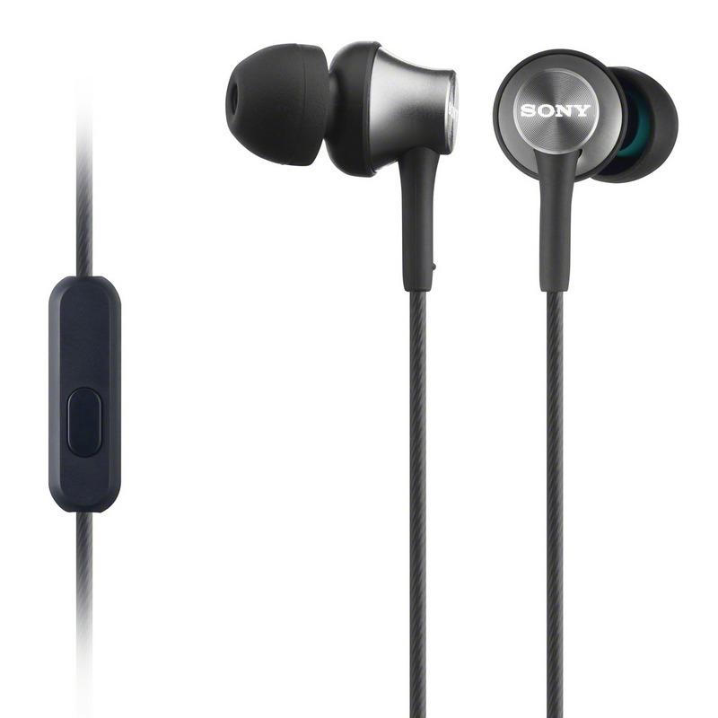 SONY sluchátka MDR-EX450AP, hliník, handsfree,šedá; MDREX450APH.CE7