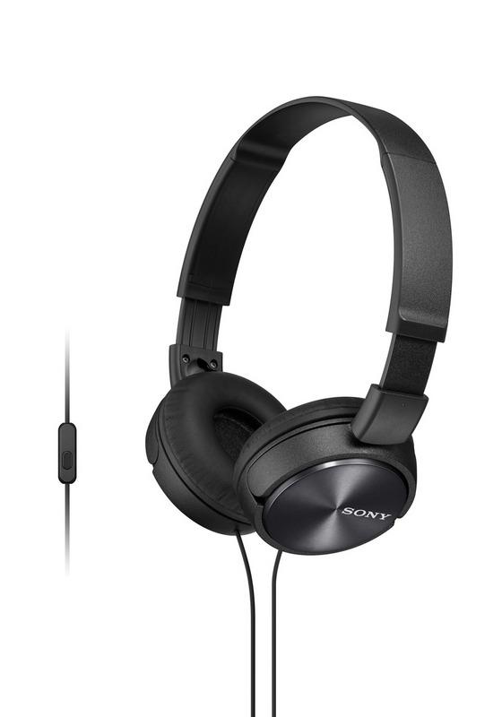 SONY sluchátka MDR-ZX310AP, handsfree, černé; MDRZX310APB.CE7