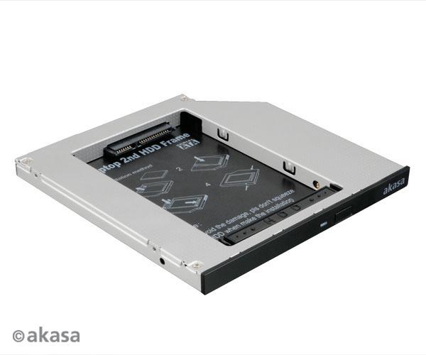 "AKASA redukce pro 2,5"" HDD místo slim SATA v NB; AK-OA2SSA-03"