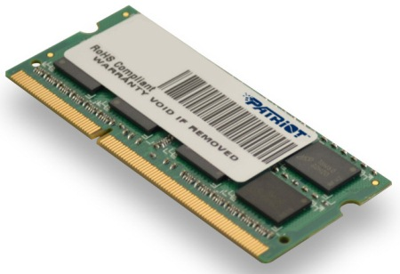 So-Dimm 4Gb Ddr3-1600Mhz Patriot Cl11 Dr; Psd34G16002S