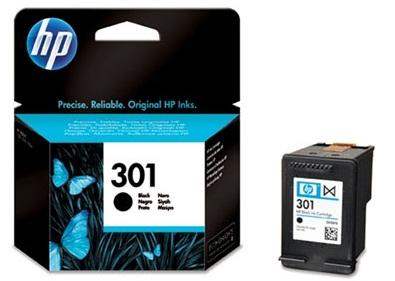 HP 301 černá inkoustová kazeta, CH561EE; CH561EE