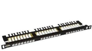 "19"" Patch pan. Solarix 24xRJ45 CAT6 UTP černý 0,5U"