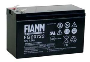Fiamm olověná baterie FG20722 12V/7,2Ah Faston 6,3; 07955