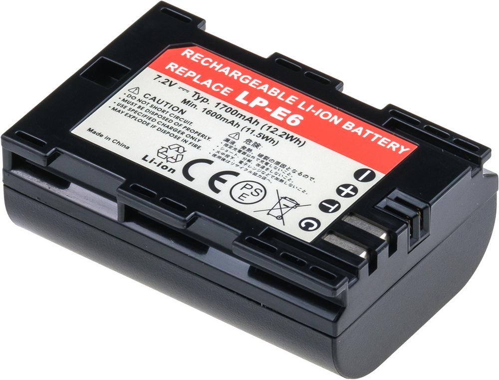 Baterie T6 power Canon LP-E6, LP-E6N, 1700mAh, 12,2Wh; DCCA0017