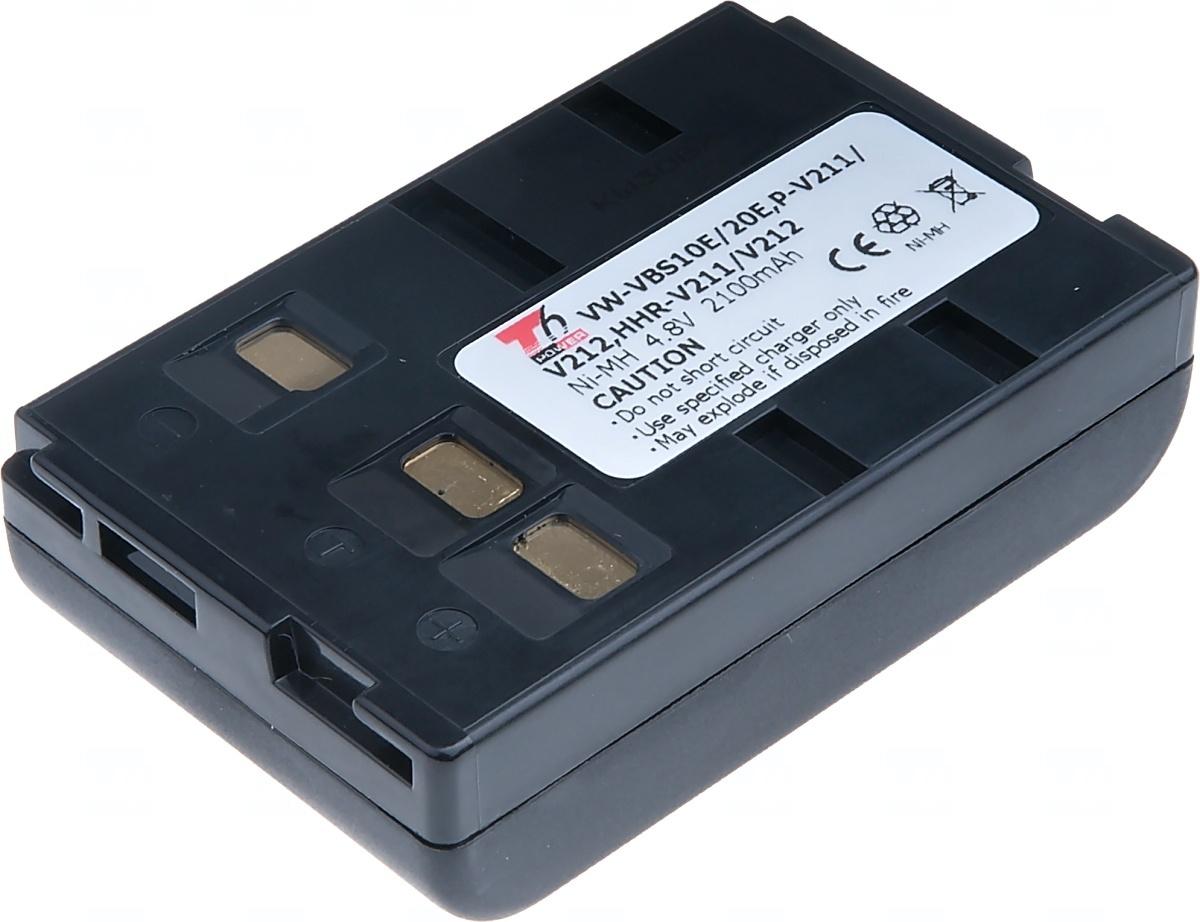 Baterie T6 power Panasonic HHR-V211/V212, Ni-MH, 2100mAh, černá; VCPA0019