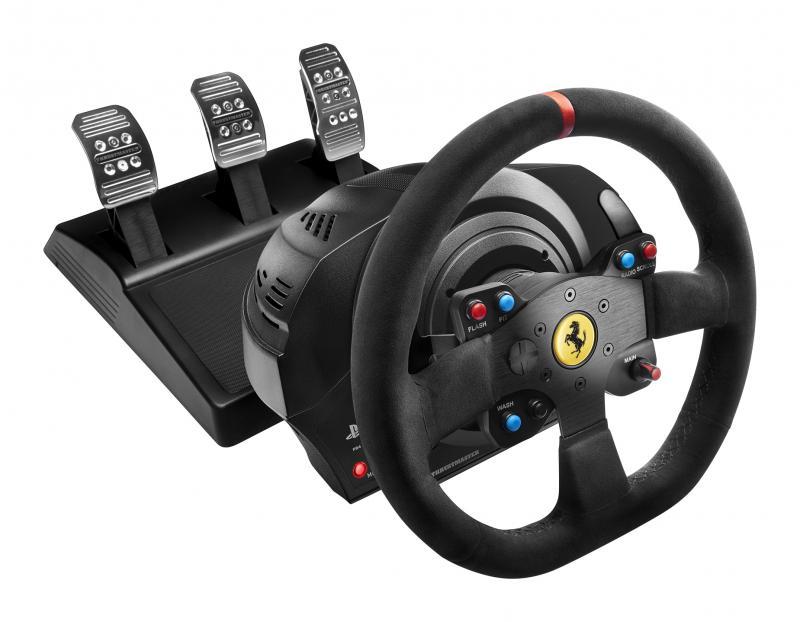 Thrustmaster Sada volantu a pedálů T300 Ferrari 599XX EVO pro PS3, PS4 a PC; 4160652