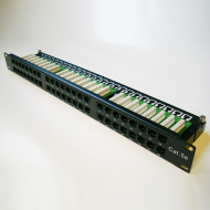 DATACOM Patch panel 48p. Cat5e 1U BK 8x6p. Modul, UTP, 19""
