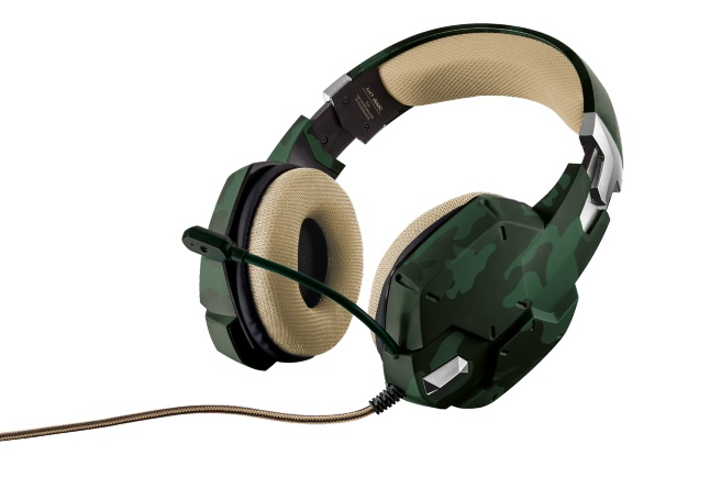 TRUST GXT 322C Carus Gaming Headset - jungle camo; 20865