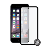 Screenshield™ APPLE iPhone 6/6S Tempered Glass protection display (full COVER black metalic frame)