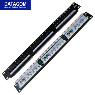 "DATACOM Patch panel 24x RJ-45,Cat5e UTP,1U,19"" LSA"