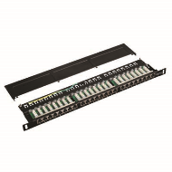 "DATACOM Patch panel 19"" STP 24 port CAT5E LSA 0,5U"