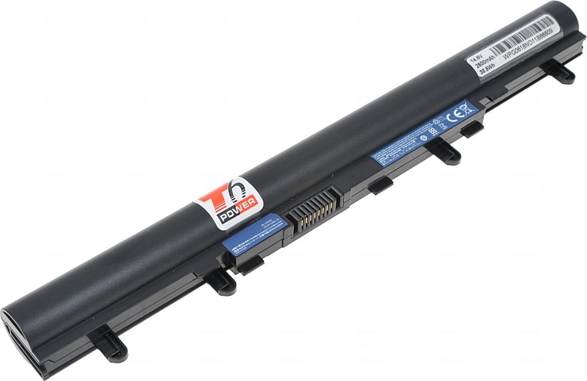 Baterie T6 power Acer Aspire V5-431, V5-471, V5-531, E1-410, E1-510, E1-570, 2600mAh, 38Wh, 4cell; N