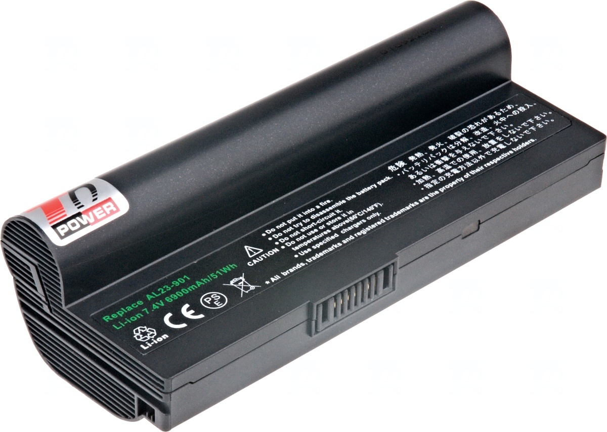Baterie T6 power Asus Eee PC 1000H, 904H, 6600mAh, 49Wh, 6cell, black; NBAS0053