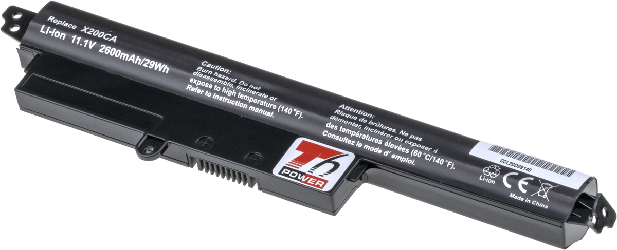 Baterie T6 power Asus X200CA, X200LA, X200MA, F200CA, F200LA, F200MA, R200CA, 2600mAh, 29Wh, 4cell;