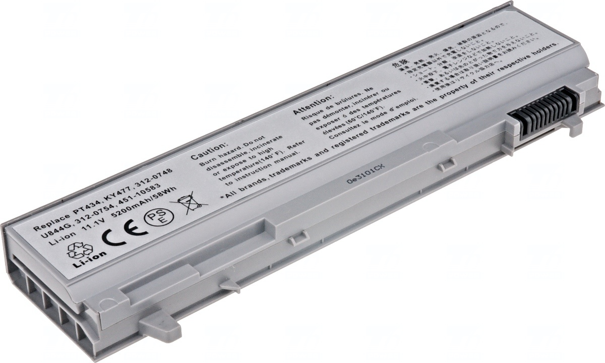 Baterie T6 power Dell Latitude E6400, E6410, E6500, E6510, 5200mAh, 58Wh, 6cell; NBDE0087