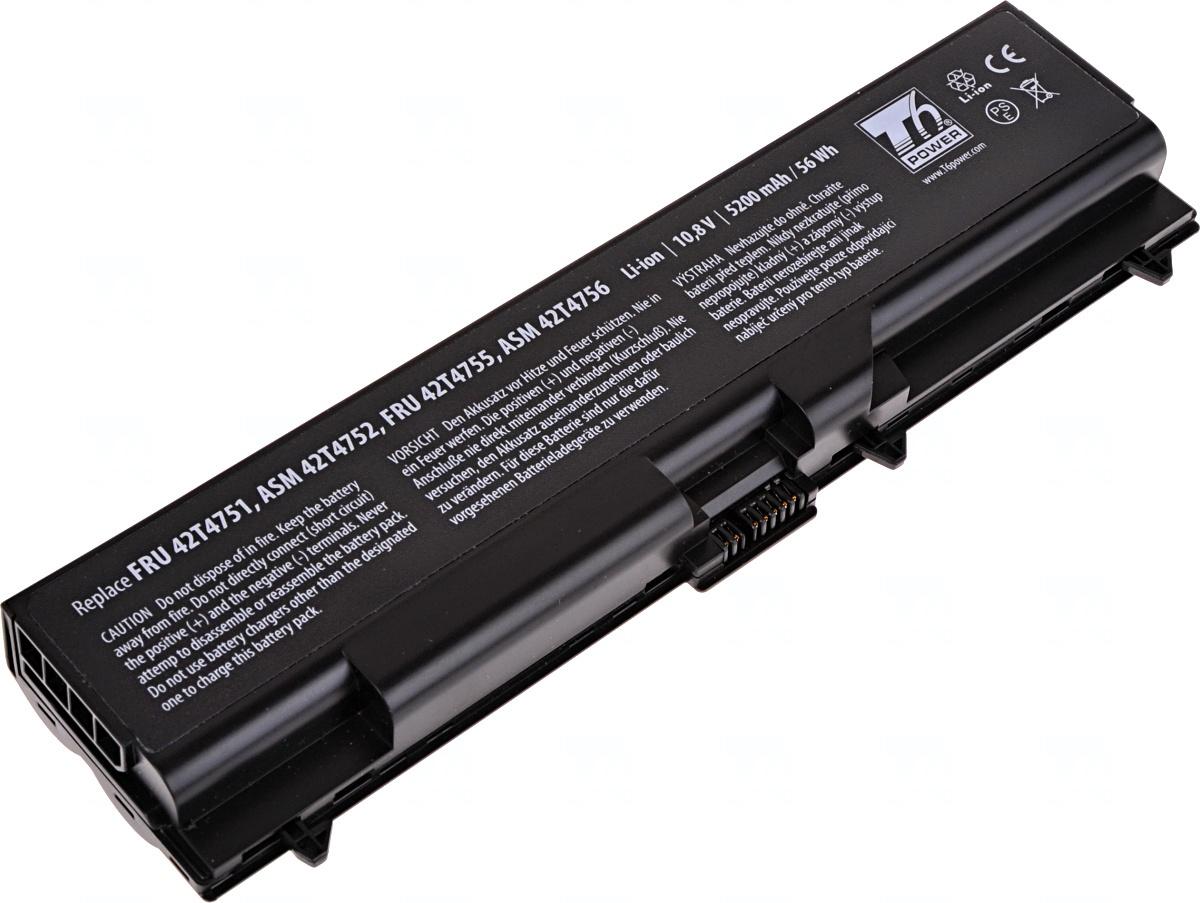 Baterie T6 power Lenovo ThinkPad T410, T420, T510, T520, L410, L420, L510, L520, 6cell, 5200mAh; NBI
