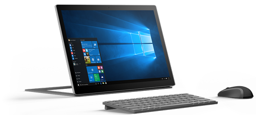 Device with Windows 10 Interface