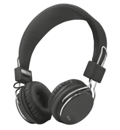 náhlavní sada TRUST Ziva Foldable Headphone- black