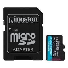 256GB microSDXC Kingston Canvas Go! Plus A2 U3 V30 170MB/s + adapter