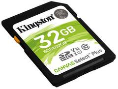 32GB SDHC Kingston Canvas Select Plus U1 V10 CL10 100MB/s