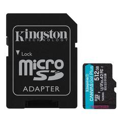 512GB microSDXC Kingston Canvas Go! Plus A2 U3 V30 170MB/s + adapter