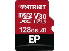 128GB microSDXC Patriot V30 A1, class 10 U3 100/80MB/s + adapter
