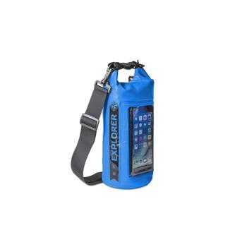 """Voděodolný vak CELLY Explorer 2L s kapsou na telefon do 6,2"""", modrý"""